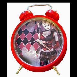 Harley Quinn red large stand up clock